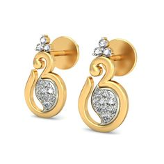 Buy these intricate Aum earrings NOW! only at jewels4u.in