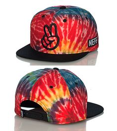 NEFF MENS TIE DYE SNAPBACK CAP Multi-Color