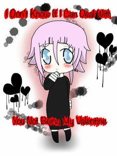 soul eater. crona. valentine. cute!!