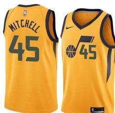 c1cddb9de Men 45 Donovan Mitchell Jersey Yellow Utah Jazz Swingman Fanatics