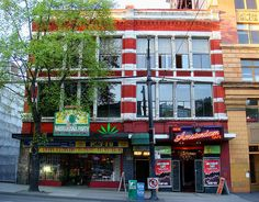 BC Marijuana Party Bookstore, Vapour Lounge, and the New Amsterdam Cafe Vancouver, Canada