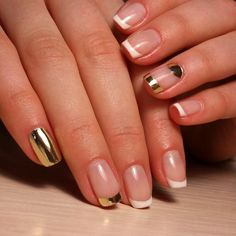 Metallic French mani - super classy & subtle