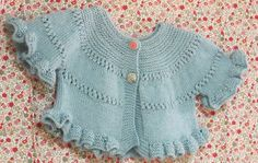 Patrón en español de chaqueta de niña de 9 meses a 1 año. INSTANT DOWNLOAD Baby Knitting Patterns, Knitting For Kids, Baby Patterns, Diy Crochet, Crochet Baby, My Princess, Baby Wearing, Knit Dress, Sewing