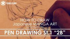 "✔ Pen Drawing St.1 ""2B""   How to draw Manga Art 2018.01.19"