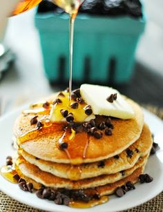 #Recipes : Oatmeal Chocolate Chip Buttermilk Pancakes