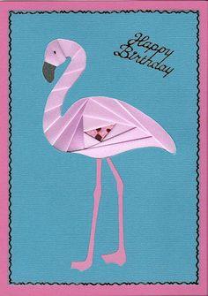 flamingo - free iris fabric folding pattern