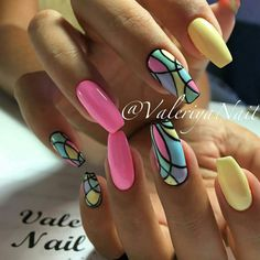☺ nails nails, summer nails и gel nail art. Best Nail Art Designs, Gel Nail Designs, Coffin Nails Designs Summer, Stylish Nails, Trendy Nails, Fancy Nails, Cute Nails, Gel Nail Art, Gel Nails