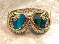 King Midas Gold Steampunk Mardi Gras Burning Man Goggles https://www.steampunkartifacts.com/collections/steampunk-glasses