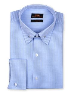 Men's Dress Shirt by Steven Land -  Woven Stripe Blue