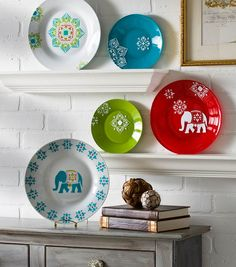 New Handmade Charlotte Stencil Projects - DIY Decorative Elephant Plates At JoAnn Stores Now
