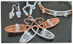 Heidin korutaiteilut: Uusi korusetti kuparilangasta Diy Jewellery, Jewelry, Wire Wrapping, Jewlery, Jewerly, Schmuck, Jewels, Jewelery, Fine Jewelry