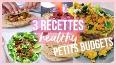3 Recettes Cheap, Express & Healthy 🍠🥗🌯 | SANS FOUR !!! 😍 - YouTube Healthy Wraps, Quinoa, Meal Prep, Prepping, Meals, Ethnic Recipes, Four, Alice, Meal Prep Recipes