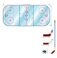 Terrain de hockey sur glace
