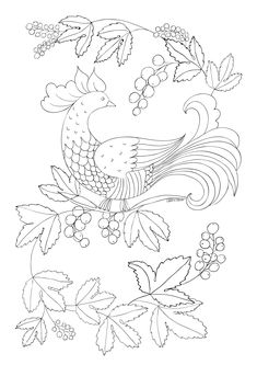 GRATUIT: Desene si planse de colorat pentru adulti Jacobean Embroidery, Crewel Embroidery, Hand Embroidery Patterns, Embroidery Designs, Batik Pattern, Pattern Art, Rug Inspiration, Quilling Patterns, Rug Patterns