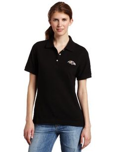 NFL Baltimore Ravens Women's Ace Polo, Black, X-Large by Cutter & Buck. $27.99. Stylish polo for ladies featuring a 1x1 rib knit collar with spandex, ribbed cuffs, a three-button placket with pearl colored logo buttons, and side vents. Tonal C&B pennant embroidery at back half moon.. Save 20%!
