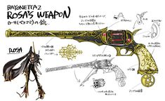 Unforgiven is the name of the set of guns that Rosa wields during Bayonetta 2. Resembling six-shooter pistols and with a strong link to the magical arts, they were originally intended to be used only by the chosen of the Umbra Witches until a clan member betrayed and injured one of their own. Something strange is that these, despite clearly being cast and constructed before the 1300s, are almost exactly hammer action Colt Magnum revolvers, which were not designed until about the mid-1800s...