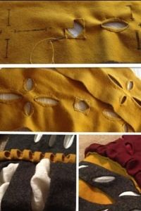 There is a number of different ways to slash your landsknecht/trossfrau decorations, the fastest is to simply cut out the pattern in the fabric. Cut out slashes require a fabric that doesn't fray t...