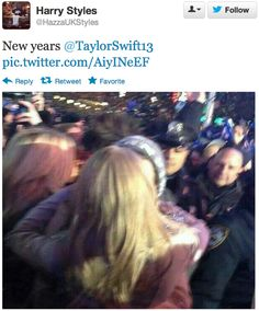 Taylor Swift And Harry Styles Kissed At Midnight On New Year's Eve