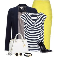 """""""Nautical Office Style"""" by kginger on Polyvore"""