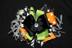 Halloween boutique bow by Thesassycoop on Etsy, $11.99