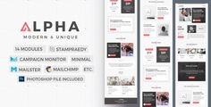 Alpha | Stylish Newsletter - Newsletters Email Templates