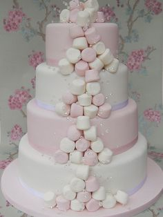 Cake dripping with MARSHMALLOWS!?! Oh yes.