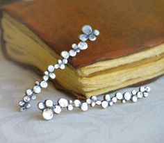 Dots... silver post earrings