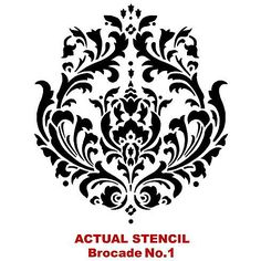 Cutting Edge Stencils - Brocade No.1 Stencil - for painting on furniture.