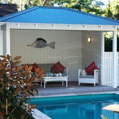 Luxury Backyard Cabana 99 For Interior Design Ideas For Home Design with Backyard Cabana Backyard Cabana, Pool Cabana, Design Your Home, House Design, Pool Houses, Pool Designs, Living Room Designs, Living Rooms, Wonderful Places