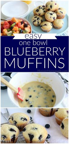 Nutritious Snack Tips For Equally Young Ones And Adults Blueberry Muffins Recipe Easy One Bowl Homemade Muffins Fun Baking Recipes, Easy Cookie Recipes, Easy Desserts, Muffin Recipes, Cake Recipes, Homemade Blueberry Muffins, Blueberry Cobbler, Blueberry Cake, Homemade Breakfast
