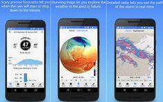 Dark Sky es una de las apps más precisas para conocer el estado del Tiempo y la previsión meteorológica. Disponible para Android (gratis) e iOS ($3.99).