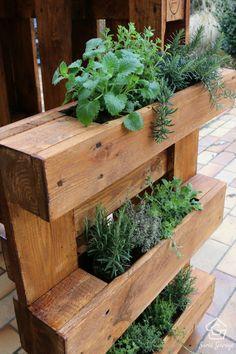 ᐅ Build & buy pallet furniture yourself # herb garden pallet a DIY herb bed made of pallets .