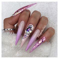 Red Nails by MargaritasNailz from Nail Art Gallery Glam Nails, Hot Nails, Fancy Nails, Bling Nails, Trendy Nails, Glitter Nails, Beauty Nails, Hair And Nails, Fabulous Nails