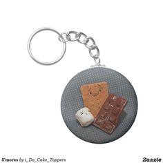 S'mores Basic Round Button Keychain
