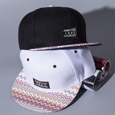 Homens unissex mulheres ambição onda padrão colorido do snapback do boné de beisebol ajustável hip hop chapéus