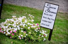 Having Lawn games are a great idea to keep guests entertained if they don't like to dance!
