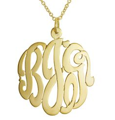 I found this on www.shopfirstdate.com  Get your new initials on this beautiful monogram necklace or a treasured wedding gift from the Groom to the Bride on their wedding day