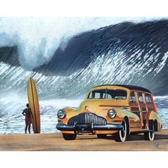 Scott Westmoreland 'Buttercup Buick' Gallery Wrapped