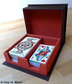 Les cartonnages de Manel / boite à jeux de cartes