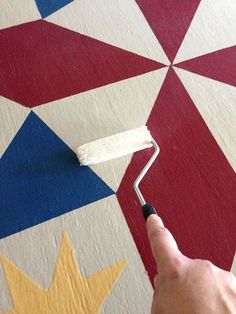 painting a barn quilt for your garden shed, crafts, painting, rolling the clear coat on Barn Quilt Designs, Barn Quilt Patterns, Quilting Designs, Block Patterns, Mosaic Patterns, Quilting Projects, Painted Barn Quilts, Barn Signs, Wood Signs