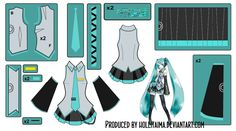 You know, Hatsune is the most cosplayed character ever? Well anyway~ here is a pattern draft for making a cosplay of her main outfit~~~ :3 For further updates on myself and my work please visit: My...