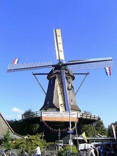 Flour mill 't Roode Hert, Oudorp, the Netherlands.