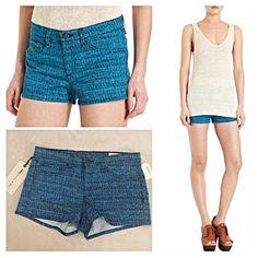 "Rag & Bone Tweed Print Biba Shorts NWT Classic cotton five-pocket mid-rise stretch short in blue tweed print. 8"" rise. 2"" inseam. Made in U.S. Machine wash.  Original price $154 Style # 501797720 rag & bone Shorts"