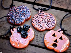 clay necklace charms