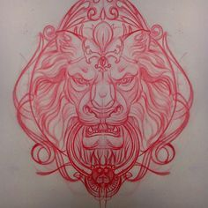 Sick lion design by Jaime Ames Navarro TattooStage.com - Ratings and reviews for tattoo artists and studios. #tattoo #tattoos #ink