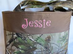 Camo Diaper Bag  Baby Girl  Pink  by SonshineCreations3 on Etsy, $55.00
