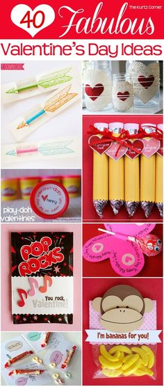 The Kurtz Corner: 40 Fabulous Valentine's Day Ideas... Some cute ideas if you want something simple and not too expensive :)