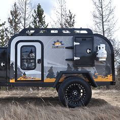 The best teardrop trailer on the market. A true all metal trailer made for the toughest terrain. Mold and mildew resistant Off Grid Trailers, Small Camper Trailers, Off Road Camper Trailer, Travel Trailer Camping, Jeep Camping, Tiny Camper, Car Camper, Small Campers, Car Trailer