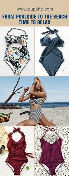 Cupshe hottest trending beach fashion here~ Pack these pretty swimsuits for next travel, start your unforgettable seaside vacation. You gonna love these so much! Free shipping! Shop Now.