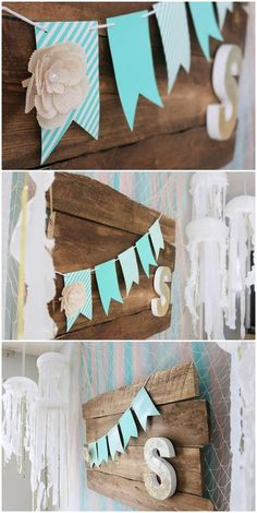 Mermaids birthday party banner! See more party planning ideas at CatchMyParty.com!